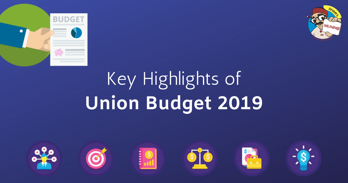 Key Highlights of Union Budget 2019