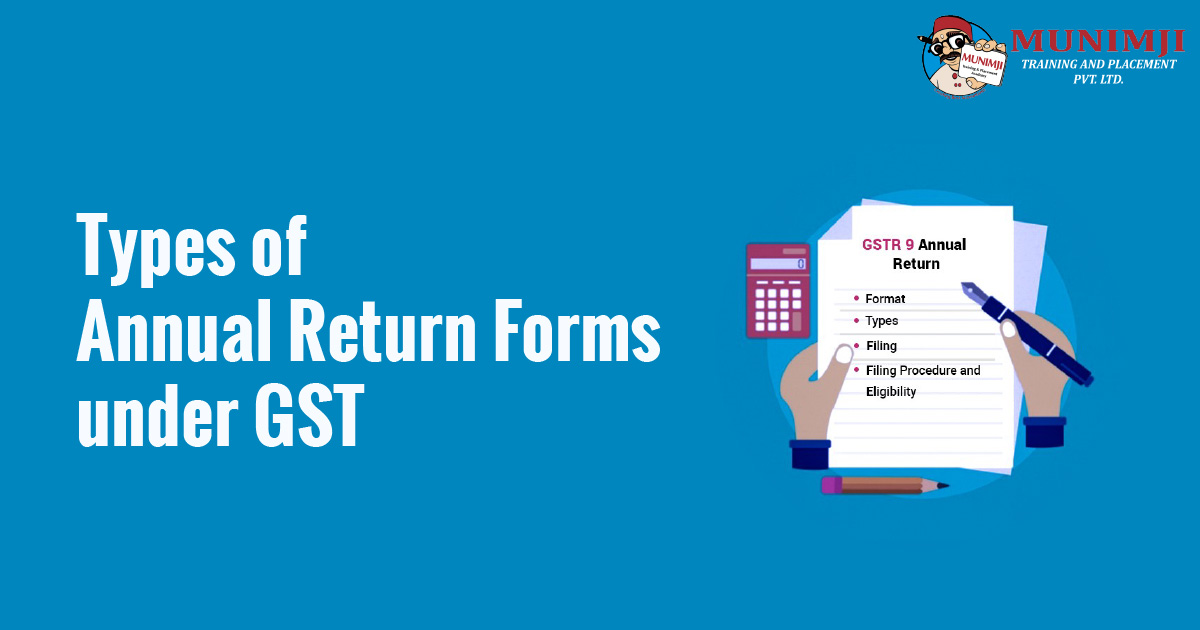 Types of Annual Return Forms under GST
